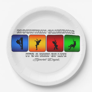 Cool Mountain Climbing It Is A Way Of Life Paper Plate