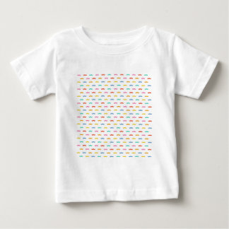 cool moustache pattern baby T-Shirt