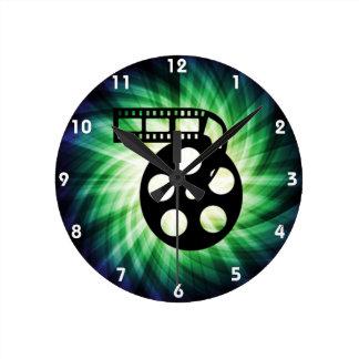 Cool Movie Film Reel Wallclocks
