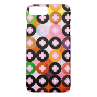 Cool Multi Colored Circles & Pink Clovers iPhone 8 Plus/7 Plus Case