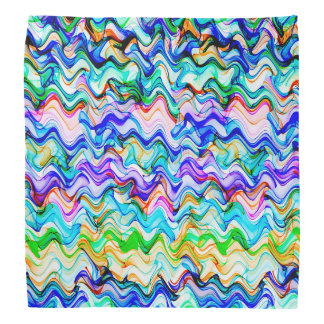Cool Multicolored Wavy Zig Zag Pattern Bandana