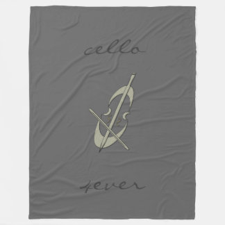Cool Music Cello 4ever Grey Blanket