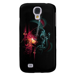 Cool Music Graphic with Guitar Galaxy S4 Covers