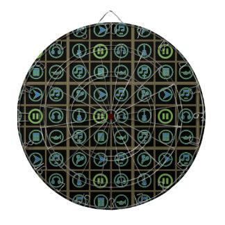 Cool Music Icons Pattern Dart Board