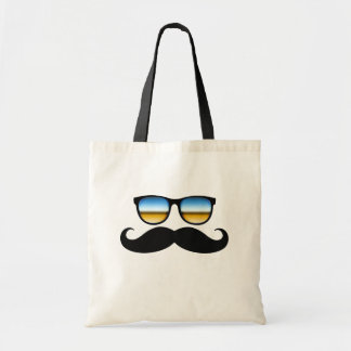 Cool Mustache under Shades Tote Bag