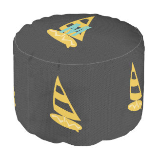 Cool  Nautical Surfing Windsurfing Board Pouf