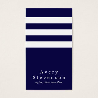 Cool Navy and White Striped Modern Vertical Hip