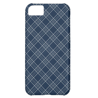 Cool Navy Blue and White Plaid Pattern Gifts iPhone 5C Case