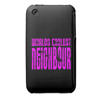 Cool Neighbours + Pink Worlds Coolest Neighbour iPhone 3 Case-Mate Cases