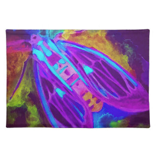 Cool Neon Insect/Bug Electric Painted Nature Placemat