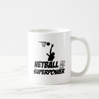 Cool Netball designs Basic White Mug
