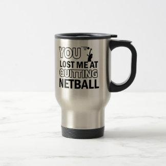 Cool Netball designs Stainless Steel Travel Mug