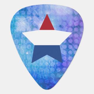 Cool Netherlands Flag Star Guitar Pick