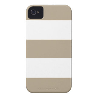 Cool New Khaki Tan & White iPhone Case Gift Case-Mate iPhone 4 Case