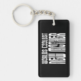 Cool New Moms Baby Showers : Coolest New Mother Double-Sided Rectangular Acrylic Key Ring