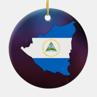 Cool nicaragua Flag Map Ceramic Ornament