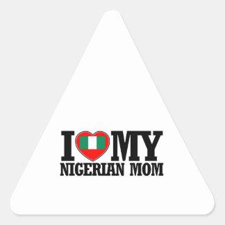 cool Nigerian  mom designs Triangle Sticker