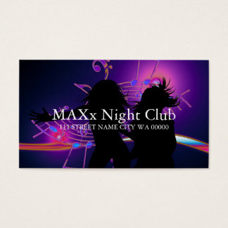 Cool Night Club Dancing Bar Nightlife Business Business Card