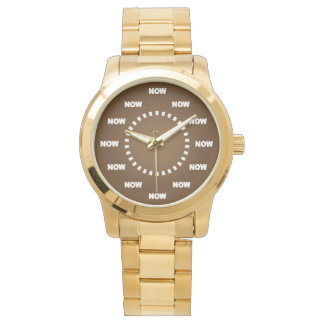 "Cool ""NOW"" Watch (Brown)"