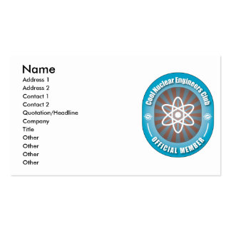 Cool Nuclear Engineers Club Business Cards