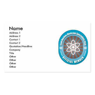 Cool Nuclear Medicine Specialists Club Pack Of Standard Business Cards