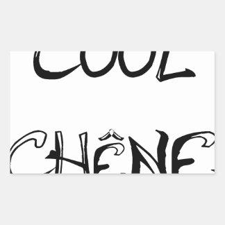 COOL OAK - Word games - François City Rectangular Sticker
