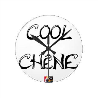 COOL OAK - Word games - François City Round Clock