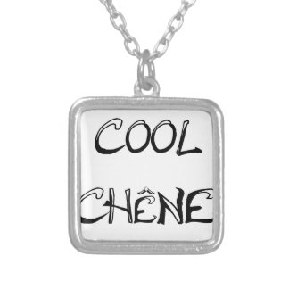 COOL OAK - Word games - François City Silver Plated Necklace