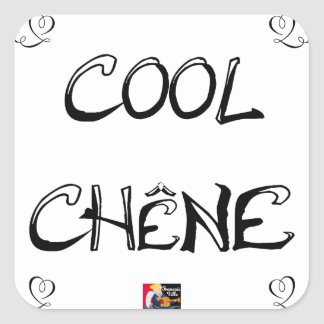 COOL OAK - Word games - François City Square Sticker