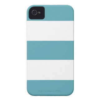 Cool Ocean Blue & White Stripe iPhone Case Gift iPhone 4 Cover