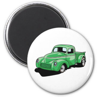 Cool Old Truck 6 Cm Round Magnet
