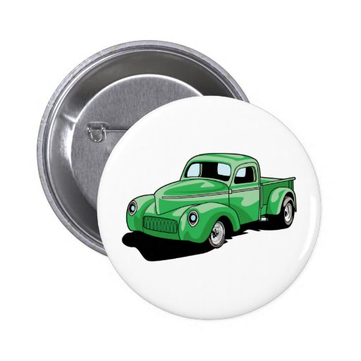 Cool Old Truck Buttons