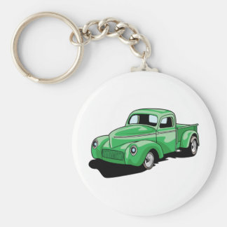 Cool Old Truck Basic Round Button Key Ring