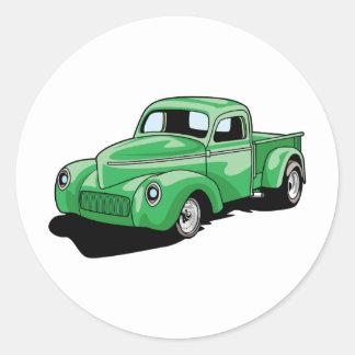 Cool Old Truck Round Sticker
