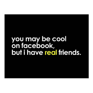 Cool on facebook postcard