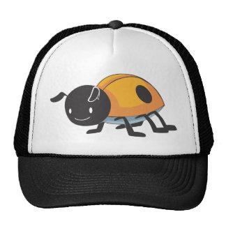 Cool Orange Baby Ladybug Cartoon Hats
