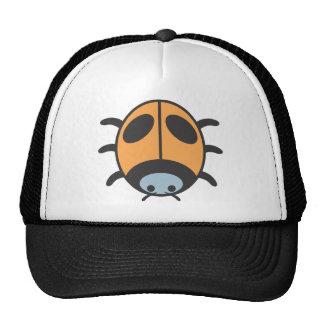 Cool Orange Lady Bug Cartoon Mesh Hats