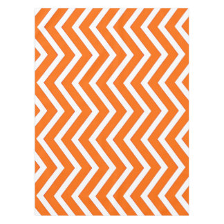 Cool Orange white Chevron  tablecloth