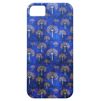 Cool oriental blue japanese abstract tree indigo barely there iPhone 5 case