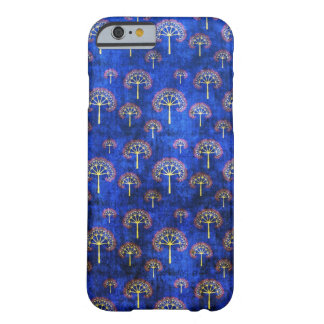 Cool oriental blue japanese abstract tree indigo barely there iPhone 6 case