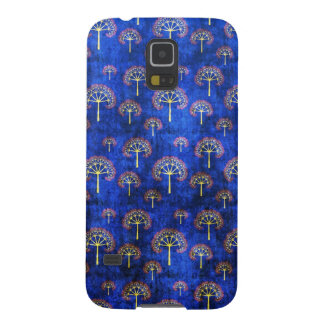 Cool oriental blue japanese abstract tree indigo galaxy s5 cover