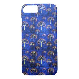 Cool oriental blue japanese abstract tree indigo iPhone 7 case