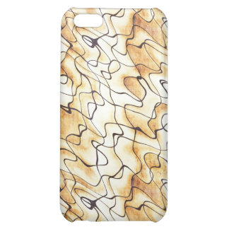 Cool oriental chocolate sand abstract pern case for iPhone 5C