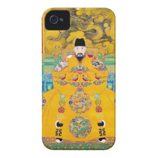 Cool oriental classic chinese woodcut emperor art Case-Mate iPhone 4 case