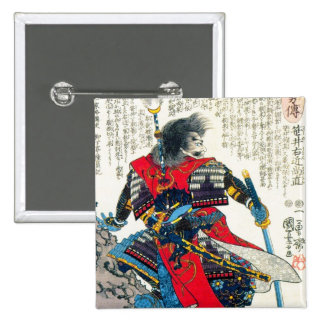 Cool oriental classic japanese samurai warrior art pins