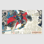 Cool oriental classic japanese samurai warrior art rectangle stickers