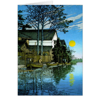 Cool oriental japanee classic scenery painting card