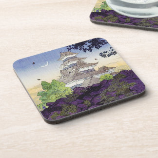 Cool oriental japanese Ancient Castle Palace art Coaster