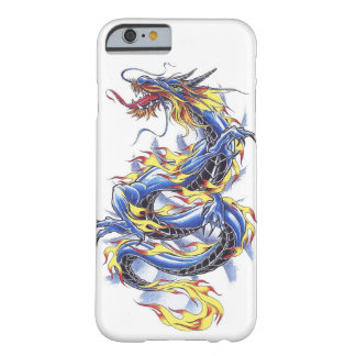 Cool Oriental Japanese Blue Dragon tatttoo Barely There iPhone 6 Case