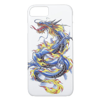 Cool Oriental Japanese Blue Dragon tatttoo iPhone 7 Case